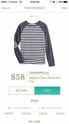 Loveappella malbec elbow patch knit top stitch fix