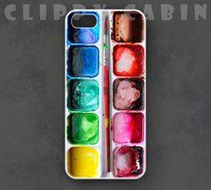 Watercolors iPhone Case, Watercolor Palette iPhone Case, Paints iPhone Case, iPhone 5 Case iPhone 5s Case iPhone 5c Case iPhone 4 Case 4s by clippycabin on Etsy