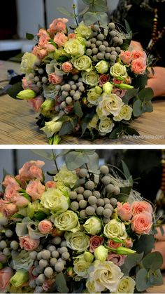 DREAM BOUQUET!!! LOVE everything single thing about this bouquet! Love the flowers, the colors, the shape of the bouquet. from https://www.facebook.com/flowersella.shop/