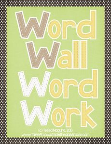Classroom Freebies: Word Wall Word Work