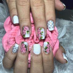 Great Nails, Fabulous Nails, Christmas Nail Art, Christmas Design, Manicure Y Pedicure, Flower Nails, Easy Nail Art, Toe Nails, Nail Care