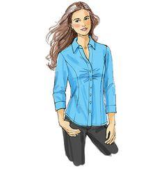 V8747 Misses' /Misses' Petite Shirt   Easy   Custom Fit