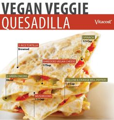 Veggielicious Quesadilla #Recipe #Vegan #Dinner #DIY #Healthy #Vitacost #VitacostFoodie #Vegan #Vegetarian #Dinner