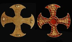 The grave of a teenage girl from the mid 7th century AD has an extraordinary combination of two extremely rare finds: a 'bed burial' and an early Christian artefact in the form of a stunning gold and garnet cross.