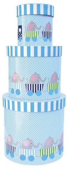 79:- bara idag  Jabadabado Förvaringsask Elefant Blå   Barnrummet Förvaring   Jollyroom