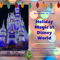 From November 6 through December 30, 2020, you will be able to enjoy festive décor, themed merchandise, seasonal food & beverage offerings and entertainment all across Walt Disney World Resort #Disney #DisneyWorld #holidays #DisneyHolidays #HolidaysatDisney Disney Resort Hotels, Disneyland Resort, Disney World Resorts, Walt Disney World, Very Merry Christmas Party, Whimsical Christmas, Holiday Fun, Festive, Disney Destinations