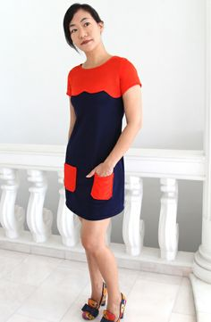 "The ""Cute"" Scallop Yoke Laurel Dress: A 60s André Courrèges knock off"