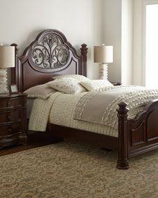 Villa veneto sleigh bed queen size bed by fairmont designs luxury bedroom furniture bedroom for Fairmont designs bedroom furniture sets