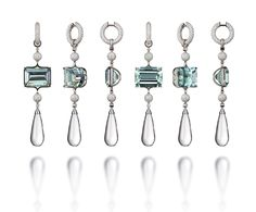 VLAD GLYNIN jewellery - vladglynin.com - Earrings CUSTODIANS, 2016. White gold, aquamarine, diamond, rock crystal / Серьги ХРАНИТЕЛИ, 2016 г. Белое золото, аквамарины, бриллианты, горный хрусталь / Orecchini CUSTODI, 2016. Oro bianco, acquamarina, diamanti, cristallo di rocca Fancy Jewellery, Gems Jewelry, High Jewelry, Modern Jewelry, Body Jewelry, Jewelry Design Drawing, Jewellery Sketches, Antique Jewelry, Fashion Jewelry
