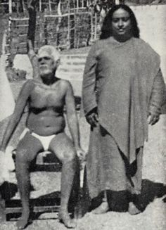 Picture: Yogananda with Sri Ramana Maharshi