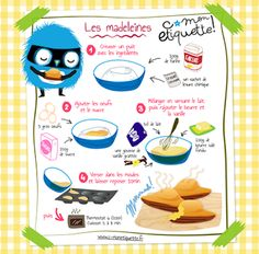Madeleines Rezept - Make Up Muffin Recipes, Cupcake Recipes, Madeleine Recipe, Food Tags, Köstliche Desserts, Cooking With Kids, Kids Meals, Sweet Recipes, Tupperware