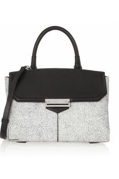 Alexander Wang - Marion large cracked-leather shoulder bag