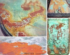 Metal Effects patina detail photos by Rooted Interiors