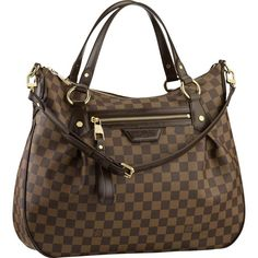 Louis Vuitton Damier Ebene Canvas Evora MM are for people who love the high fashion look. Their designs are unmistakable, they are elegant, sophisticated and beautiful. Buy Louis Vuitton Now! Louis Vuitton Damier, Louis Vuitton Handbags, Vuitton Bag, Lv Handbags, Handbags Online, Brahmin Handbags, Canvas Handbags, Leather Handbags, Louis Vuitton Online Store