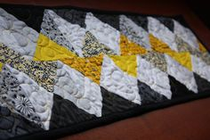 Chevron Table Runner Modern Table Topper by RedButtonQuilting