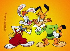 Roger Rabbit meets Bonkers Bobcat by jpox