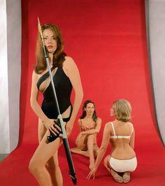 1965.  Claudine Auger, Martine Beswick, and Luciana Paluzzi.