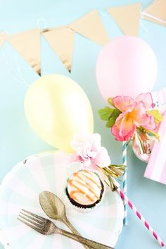 Fancy Balloon #Cupcake Toppers