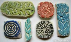 some of my favorite hand carved stamps... Made by Regina Lord
