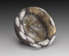 "Lisa Klakulak   Brooch Untitled  4"" x 3.5"" x 1"" 
