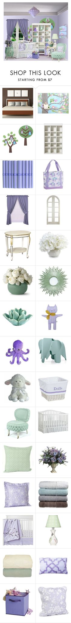 """""""Little Girl Nursery"""" by rotunda ❤ liked on Polyvore featuring interior, interiors, interior design, home, home decor, interior decorating, DENY Designs, DwellStudio, Home Decorators Collection and Ellis Curtain"""
