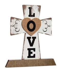 Cypress Home Wooden Love Tabletop Cross Plaque ** Check out the image by visiting the link. (This is an affiliate link and I receive a commission for the sales)