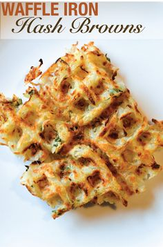 Waffle iron Hash Browns by The Collegiate Vegan!! Awesome and would be so easy to make! Apparently you can also use sweet potato instead of potato ! Could also add what ever herbs and spices if you wanted - chilli flakes? (comment by @paigeydoll1  )