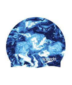 Speedo Printed Elastomeric Silicone Swim Cap 9f7f94b58681