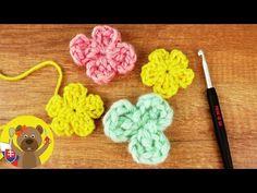 4e0599f3b07 Háčkovaný kvet 🌼| Háčkovanie pre začiatočníkov | Ako uháčkovať kvietok |  Návod na háčkované kvetinky