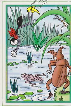 Ferda mravenec - postcard to Japan Illustration Children, 80 Cartoons, My Roots, Children Books, My Heritage, Typography Prints, Amazing Adventures, Ants, My Childhood