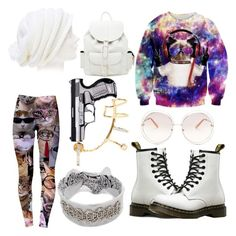 """Cats"" by inluvwitmarco on Polyvore featuring Forever 21, WithChic, Dr. Martens, Rendor & Steel, Maria Black and Chloé"