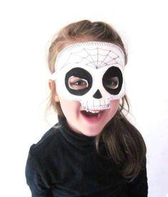 Sugar Skull Mask - Day of the Dead - Dias de los Muertos -  Halloween Mask - Halloween Costume - Dress Up - Skull Mask -  Spider's Web Mask by AisforAliceShop on Etsy https://www.etsy.com/listing/244080403/sugar-skull-mask-day-of-the-dead-dias-de