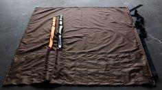 Roll Up Flag Bag - Stripes - Bronze/Blue