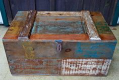 Sundance Distressed Handcrafted Wood Trunk by BrokenBranchDesigns