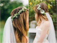 Coronas de flores para novias: ¡Dulce y romántica!
