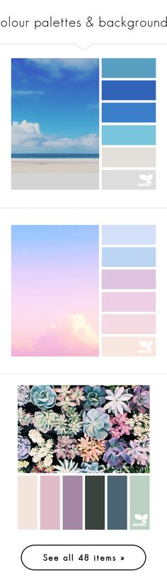 """""""colour palettes & backgrounds"""" by katarinaf ❤ liked on Polyvore featuring backgrounds, design seeds, pictures, fillers, colors, embellishments, text, effects, texture and quotes"""