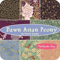 Dawn Asian Peony Fat Quarter Bundle Punch Studio for Hoffman Fabrics  For the Chinese Lantern pattern