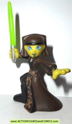 Star Wars Galactic Heroes Super Luminara Unduli holding green Lightsaber