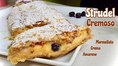 Strudel, Greek Recipes, Italian Recipes, Afternoon Tea Parties, Beautiful Fruits, Party Desserts, Sweet Cakes, Biscotti, Donuts