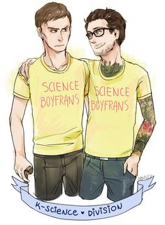 homuzu:  gunthatshootsennui:  homuzu:  matching boyfriend shirts ahhhHHH Newt would totally wear it ridiculously tight just to distract Hermann, the lil shit  #is hermy grabbing newt's booty? #fuck yeah you bet!! (_!_) ლ(´ڡ`ლ)  I'm glad someone liked my tags ahahahahhha