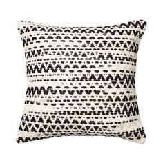 Heavy on classic style and texture, the Fluctuating Throw Pillow delivers a soothing accent to contemporary décor. A poppy black and gray zig-zag pattern grace the wool-and-cotton cover of this gorgeou...  Find the Fluctuating Throw Pillows, as seen in the Bohemian Meets Mid-Century Collection at http://dotandbo.com/collections/bohemian-meets-mid-century?utm_source=pinterest&utm_medium=organic&db_sku=112598