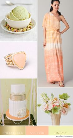 Color Palette: Antique Gold, Sherbert, Limeade | Flights of Fancy