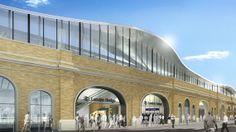London Bridge - Thameslink's final link Southwark Cathedral, In Plan, Bus Station, London Bridge, St Thomas, East London, Under Construction, Britain, Entrance