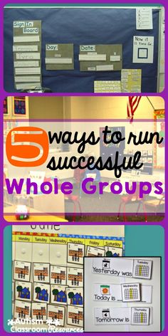 Five tips that can help you plan and run successful whole group activities like morning meeting in a special education classroom.