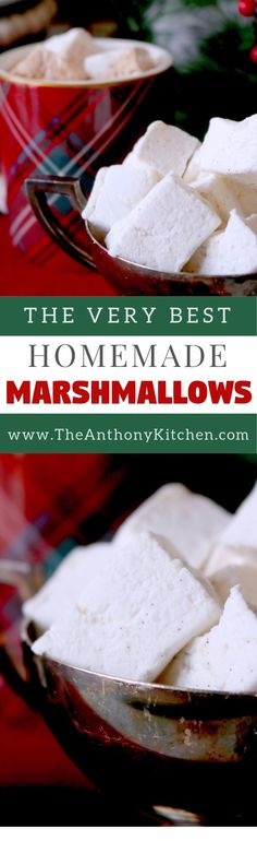 Homemade Marshmallows | A recipe for perfect, homemade marshmallows | #recipe #christmas #homemade #marshmallows