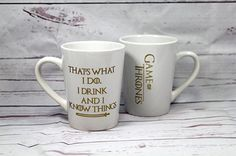 You're Going To Want These Wacky Pop Culture Gifts For Yourself  #refinery29  http://www.refinery29.com/2016/12/128466/cool-pop-culture-gifts-2016#slide-18  Tyrion Lannister's Greatest QuoteSame.Game of Thrones — I Drink And I Know Things Coffee Cup, $12.99, available at ...