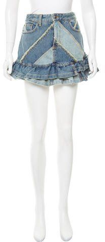 Marc by Marc Jacobs Denim Patchwork Skirt w/ Tags