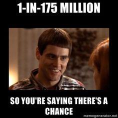 How I feel with my one Powerball ticket