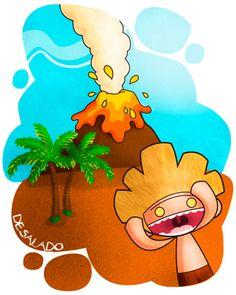 Desalado: Aterrorizado, asustado por una fuerte impresión. Ej: El volcán se puso en erupción y Gofio se desaló.