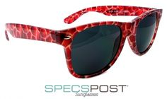 Animalistic Sunglasses Red Giraffe  - Red giraffe sunglasses  From SpecsPost